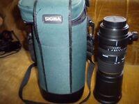 SIGMA 170 - 500mm f5-6.3 APO Lens- CANON EOS FIT