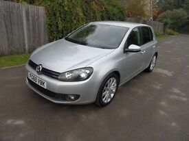 Volkswagen Golf GT TDi Diesel 140 6 speed, 2010/60 reg, full service history,new mot, stunning car