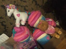 Jojo siwa large pillow pal unicorn dog cupcake USA imported