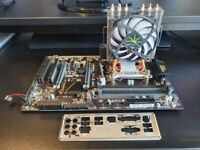 Intel I5-6600K - Quad Core CPU with Motherboard and Aftermarket cooler