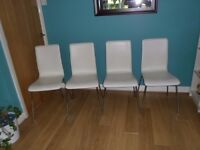 Dining Chairs (leather) x 4