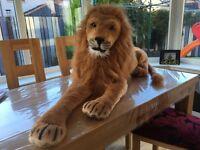 Large stuffed lion toy