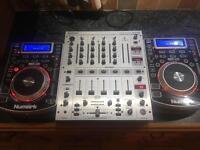 Numark NDX 400 x2 & Behringer DJX 700