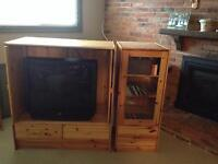 TV and stereo/storage stands