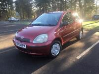 BARGAIN!TOYOTA YARIS 1.0 vvti•VERY LOW MILES•SERVICE HISTORY•Not Corsa clio polo punto fiesta 107 c1