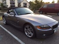 BMW Z4 2.5i 192 SE CONVERTIBLE. GREY. FULL BLACK LEATHER INTERIOR. EXCELLENT CONDITION