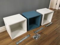 Ikea Eket storage cubes / shelf with hanging brackets and conectors