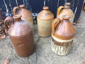 Job lot salt glazed brewery bottles vintage ornaments £10 each