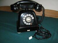 Vintage black rotary converted telephone