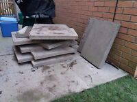 8 x 9oo x 600 grey slabs COLLECTION ONLY