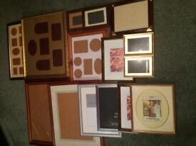 Bargain Large Selection Of Picture Frames Various Sizes And Colours