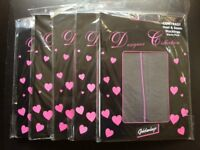 Seamed stockings black with pink seams 30pairs Job lot