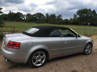 2006 Audi A4 Convertible 2l tdi 170bhp silver fsh