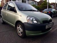2002 TOYOTA YARIS 5DOORS 1.0-GS,63000 GENUINE LOW MILES,FULL SERVICE HISTORY,MOT JUNE 2018,HPI CLEAR