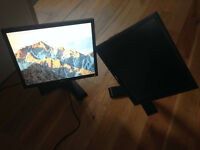 "Two Dell 19"" Monitors"