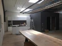 Dry walls, suspended ceilings service, multi skill team of workers