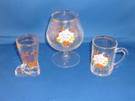 Vintage I love you MUM Brandy Glass, Mug and Boot