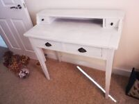 Charming painted wooden writing desk with drawers