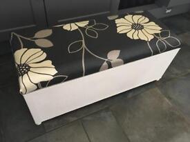 Black and white ottoman blanket box