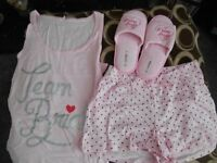 BRAND NEW Bridal Group Pj and slipper sets.