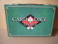 """""""CARD & DICE GAMES"""" in case. 2 packs of cards are sealed."""