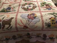 Vintage limited edition handmade double bed size patchwork quilt