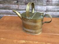 Vintage brass hot water carrier brass watering can