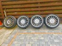 "Dynamic Racing 22"" alloys and tyres (pcd5x112)"