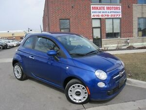 Sharp 2012 Fiat 500 Pop 80,000 km auto $7,499.00 Certified
