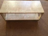 Ikea Laiva small coffee utility table birch effect