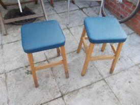 pair of genuine vintage short pub stools c.1960