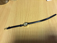 Ladies Black Leather Strap Sekonda Wrist Watch