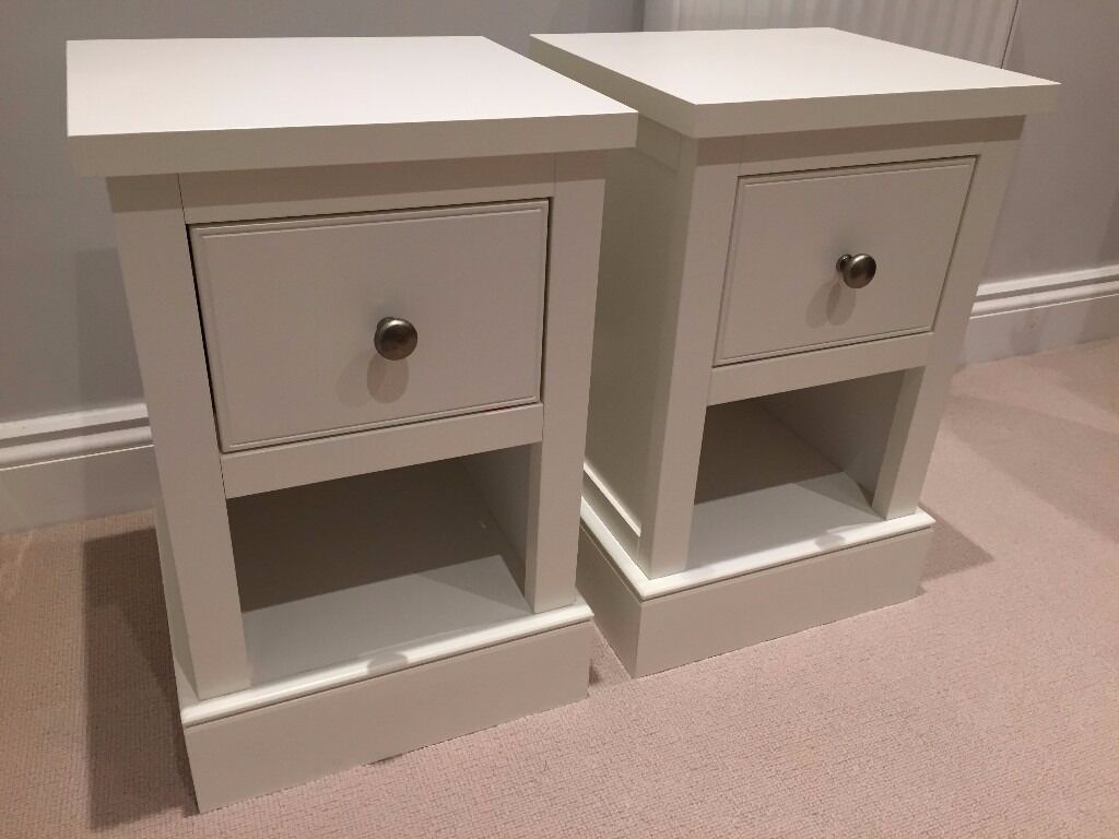 Compact Bedside Tables next hove white compact bedside tables (pair) | in reading