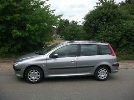 PEUGEOT 206 SW 1.4 ESTATE MOT MAY NO ADVISORYS