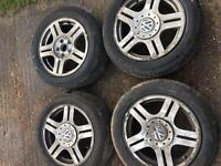 4 5x122 Passat alloy wheels with 4 brand new tyres