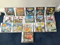 Nintendo DS, DSI and 3DS with games and accessories.
