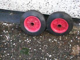 Pair heavy duty sacktruck wheels