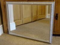 Silver Coloured Framed Mirror