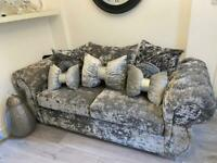 Beautiful double crush velvet sofa