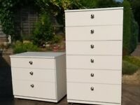 2 excellent quality white Schreiber chests of drawers.