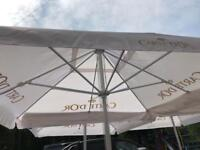 Carte D'or 3m square jumbo garden umbrella parasol
