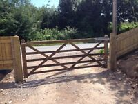 5 Bar Gate, Posts and Fittings - Duplicate of Photograph - Buyer Collects - Cardiff