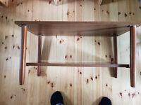 Dark mahogany effect coffee table (with magazine shelf) for sale