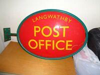 Vintage post office sign