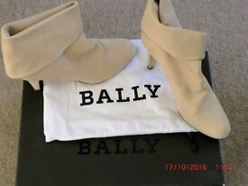 Bally Calf Leather Ankle Boots Style Ettel Size UK 4 Euro 37