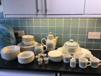 Royal Doulton Lambethware Earthflower 63 Item Set - Immaculate Condition Vintage