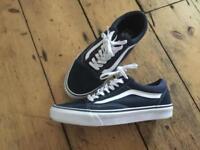 Vans, Blue Old Skool, Trainers, UK 8.