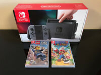Nintendo Switch Grey with Mario + Rabbids & LEGO City Undercover