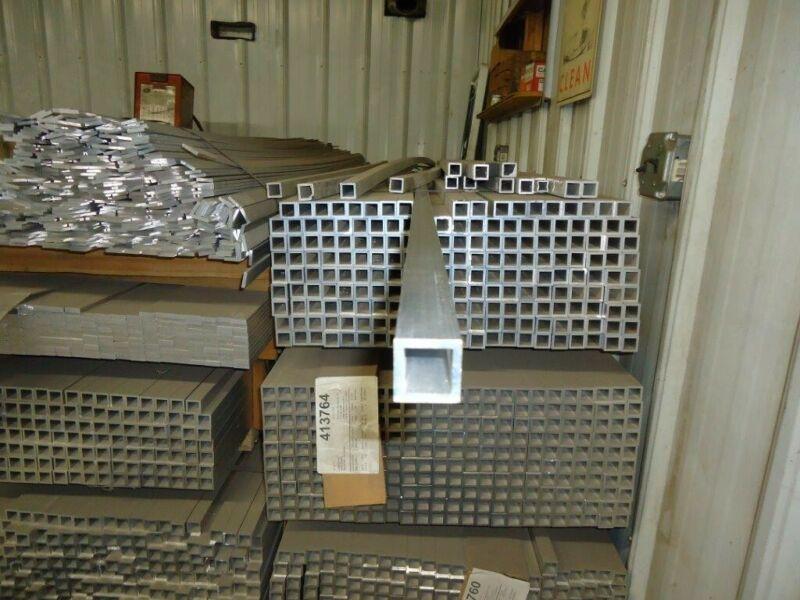 "1"" x 1"" x 96"" x 0.125"" wall 6005-T5 Extruded Aluminum Square Tube 3/4"" x 3/4"" ID"