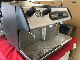 Espresso Coffee Machine Reconditioned Expobar Monroc tall cup 2 Group inc grinder